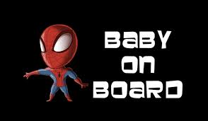 Spiderman Baby on Board Sticker
