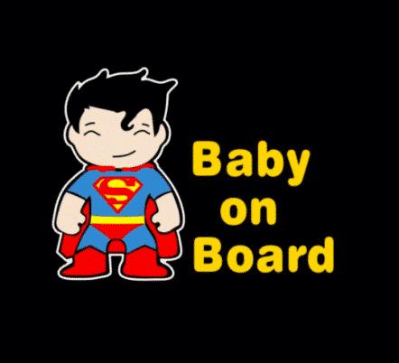Superman Baby on Board Sticker