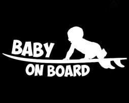 Surfboard Baby On Board Sticker