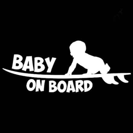 Surfboard Baby On Board Sticker