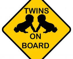 Twin Babies On Board Sticker