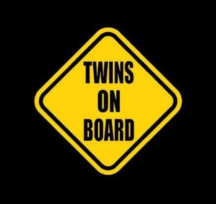 Twins on Board Stickers