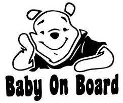 Winnie the Pooh Baby on Board Sticker