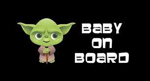 Yoda Baby On Board Decal