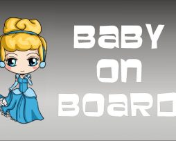 Cinderella Baby On Board Sticker