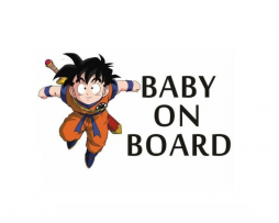Dragon Ball Z Baby on Board Sticker