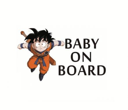 Dragon Ball Z Baby on Board Sticker