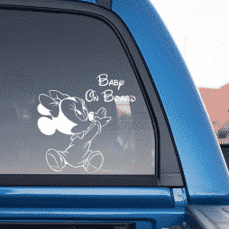 Minnie Baby on Board Sticker