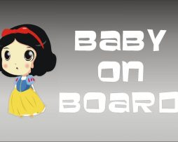 Snow White Baby On Board Sticker