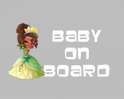 Tiana Baby on Board Sticker