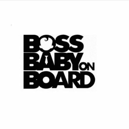 Boss Baby On Board Sticker