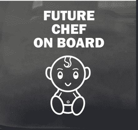 Future Chef on Board Sticker
