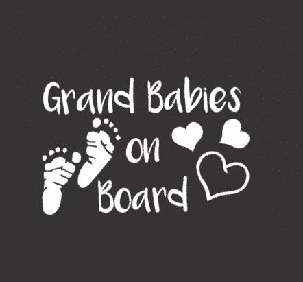 Grand Babies on Board Sticker