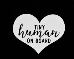 Tiny Human on Board Sticker