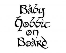 Baby Hobbit on Board Sticker
