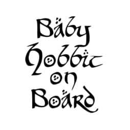 Baby Hobbit on Board Sticker