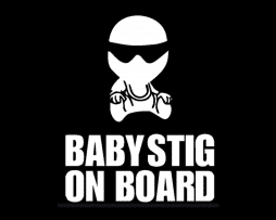 Baby Stig on Board Sticker