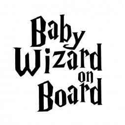 Baby Wizard on Board Sticker