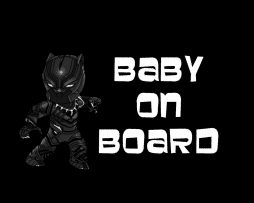 Black Panther Baby on Board Store
