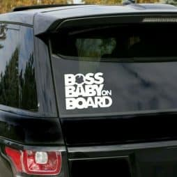 Boss Baby On Board Car Sticker