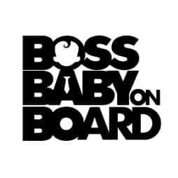 Boss Baby on Board Sticker