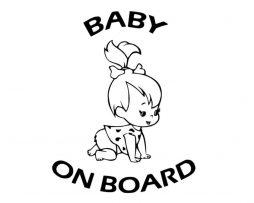 Flinstones Pebbles Baby on Board