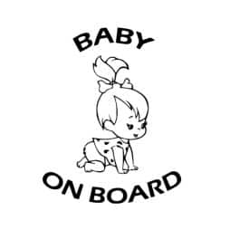 Flinstones Pebbles Baby on Board