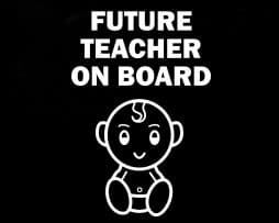 Future Teacher on Board Sticker