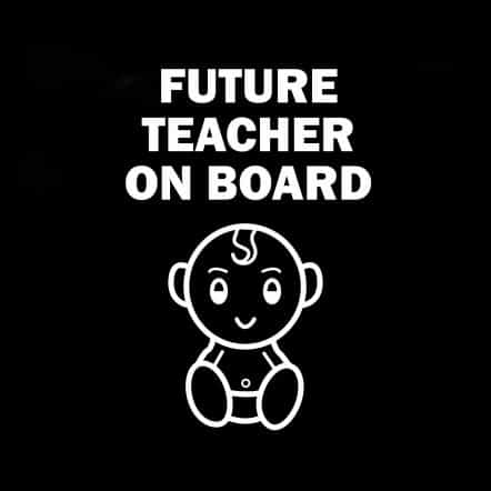 Future Teacher on Board Sticker