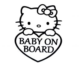 Hello Kitty Baby on Board Sticker