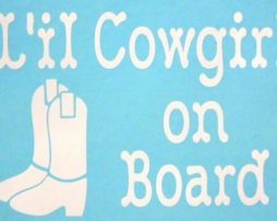Lil Cowgirl On Board