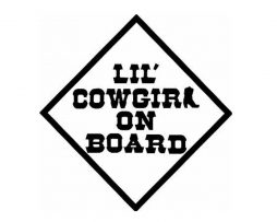 Lil Cowgirl on Board Sticker