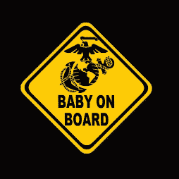 Marines Baby on Board Sticker