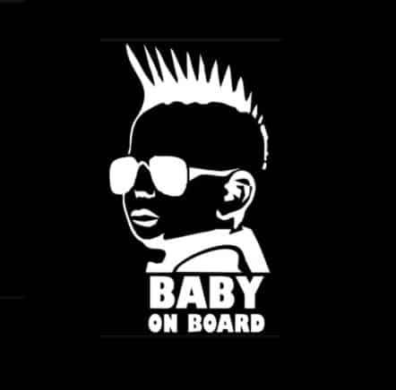 Mohawk Baby on Board Sticker
