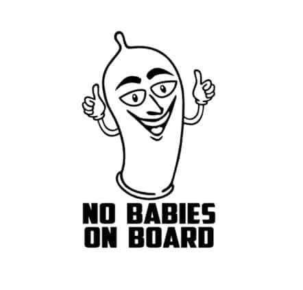 No Babies on Board Sticker