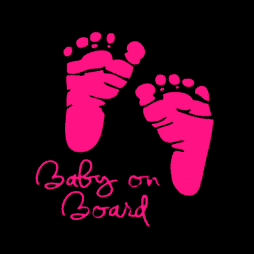 Baby on Board Pink Feet Sticker