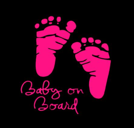 Baby on Board Pink Feet Sticker