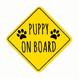 Puppy on Board Sticker