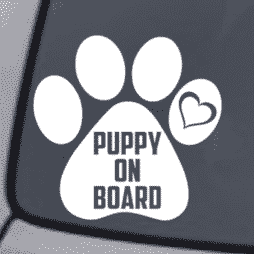 Puppy On Board Sticker