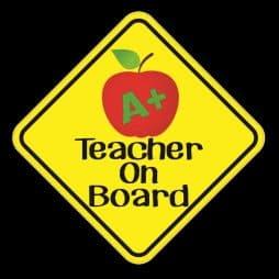 Teacher On Board Sticker