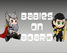 Thor and Loki Baby On Board