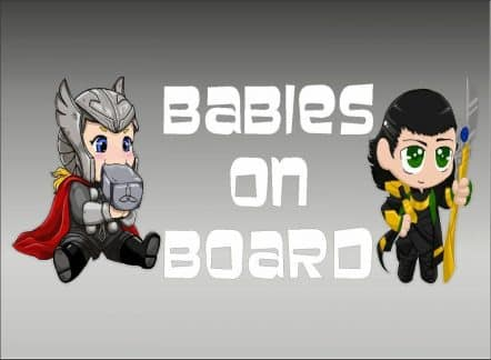 Thor and Loki Baby On Board