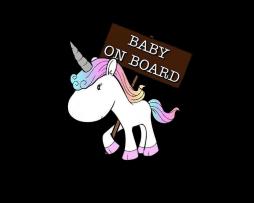 Unicorn Baby On Board Sticker