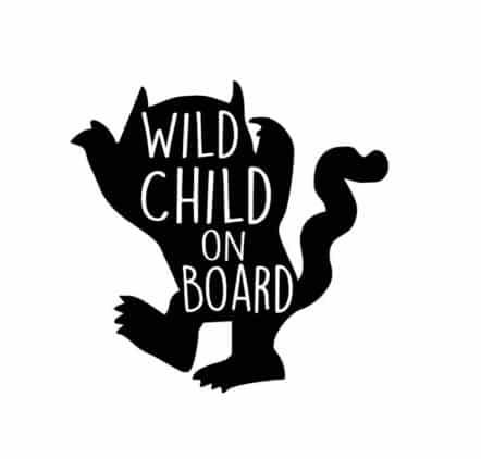 Wild Child on Board Sticker