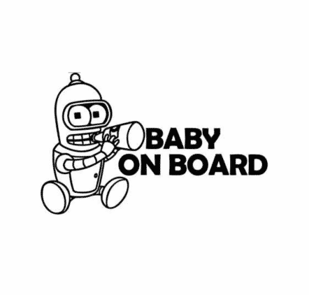 Baby Bender on Board Sticker