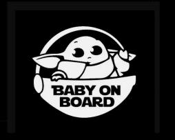 Baby Yoda Mandalorian Sticker