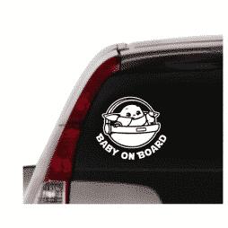 Baby Yoda Mandalorian Sticker Car