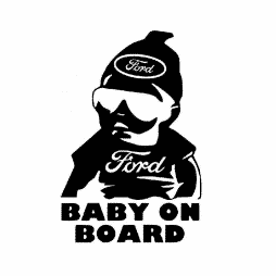 Ford Baby on Board Sticker