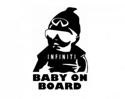 Infiniti Baby on Board Sticker