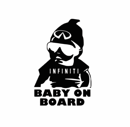 Infiniti Baby on Board Sticker